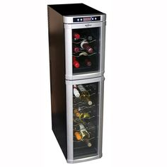 Koolatron Dual Zone Wine Cellar at The Home Depot - Mobile Wine Refrigerator, Wine Fridge, Home Depot, Wire Wine Rack, Wine Racks, Thermoelectric Wine Cooler, Thermoelectric Cooling, Wine Dispenser, Stainless Steel Doors