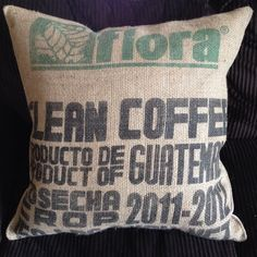 Authentic burlap coffee bag decorative by ClevelandSewingCo