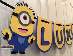 Custom Minions Party Banner by Flair4Paper on Etsy