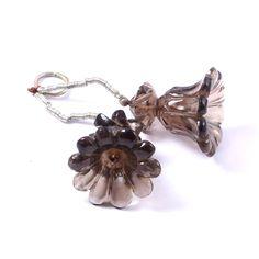 Smoky Quartz Pair Earrings | Rough Stones Beautiful Quartz Pair Available Set in wholesale | Crystal Earrings Gemstone