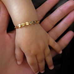 Gold Infant Bracelet Gold Baby Bracelet Child Bracelet Gold Bracelet Gold Co Baby Jewelry, Kids Jewelry, Wedding Jewelry, Gold Jewelry, Trendy Jewelry, Jewelery, Baby Bracelet, Coin Bracelet, Kids Bracelets