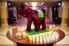 Floral Elephant - By Vintage Bloom Diwali Flowers, Colorful Centerpieces, Henna Mehndi, Birthday Candles, Elephant, Bloom, Floral, Vintage, Colorful Wedding Centerpieces