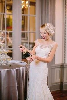 Art Deco Elegance at the Tudor Arms / Photography:  Arielle Doneson Photography, Location:  The Tudor Arms Hotel, Styling:  Baci Designer, Fashion & Accessories:  Something White, Flowers: The Budding Tree, Décor & Rentals:  Event Source, Cake:  Hummingbird Bake Shop, Stationery Suite:  Baci Designer, Hair: Fringe & Foundation Studio, Makeup:  MKleinman Artistry, Model: Taxi Talent Management
