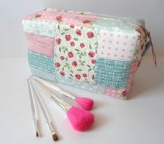 Large makeup bag Large cosmetic bag Large toiletry bag by Piebag