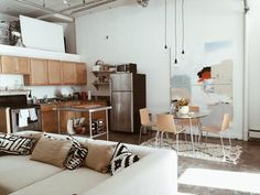 Photo from Nicole's old yarn factory - apartment therapy