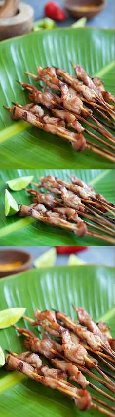 Thai pork satay with sweet coconut milk glaze - easy and delicious pork satay marinated with Thai spices and coconut milk | rasamalaysia.com