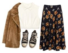 """""""flowers"""" by adele-adik ❤ liked on Polyvore featuring Converse"""