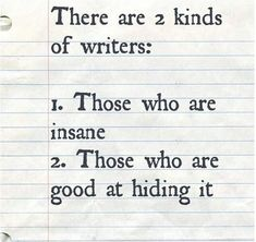 Two Kinds Of Writers