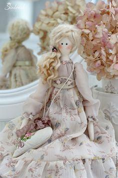 Купить Эмма - бежевый, тильда, кукла текстильная, кукла интерьерная, кукла…