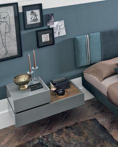 Bedroom Bed Design, Modern Bedroom Design, Master Bedroom, Side Tables Bedroom, Stylish Bedroom, Table Furniture, Room Inspiration, Living Room Decor, Interior Design
