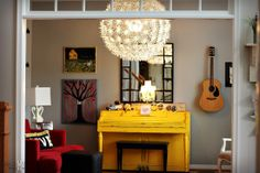 Farmgirl Paints: yellow piano BLISS