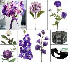#royal purple wedding #purple wedding #afloral http://blog.afloral.com/daily-scoop/royal-purple-wedding-bouquet-deandras-inspiration-board/