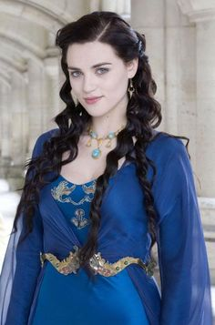 Katie McGrath as Morgana in the TV series, Merlin