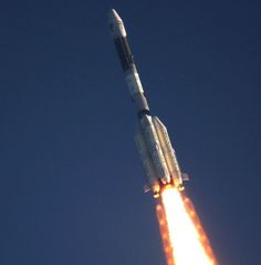 GSLV-MK2 just after lift-off from Satish Dhawan Space Center