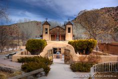 """""""El Santuario de Chimayo"""", A photo of El Santuario de Chimayo in Chimayo, New Mexico. This church is a national historic landmark and the most important Catholic pilgrimage center in the United States. Photographer: Josh Hill, Silent Landscapes Photography"""