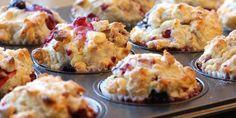 Muffins met witte chocolade en frambozen