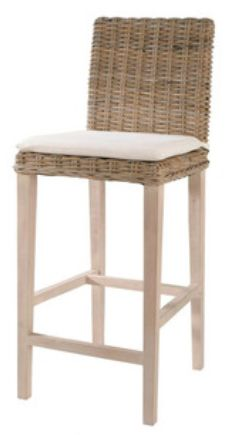 Maisons du Monde 'Key West' bar stool.  Possibly too high for kitchen island?