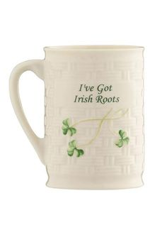 Belleek Irish Roots Mug