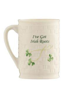 Belleek Irish Roots Mug