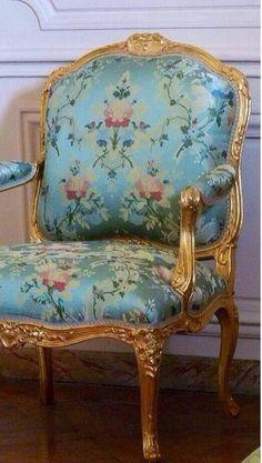 I love French chairs ad beautiful silk lampas fabrics.