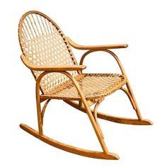 Vintage Snow Shoe Rocking Chair - $950 Est. Retail - $595 on Chairish.com