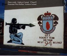 Mural in Belfast, done in 1994, during the Troubles.