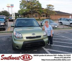 Happy Anniversary to William Thompson on your 2010 Kia Soul from James Little and everyone at Southwest Kia Dallas!