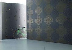 designed wallpapers / Colani / room settings / Cumulus - Wallpaper, Photo murals & Walltattoos