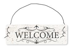 "Targa in legno - ""Welcome"" Un benvenuto speciale in stile vintage! N°Art.  HDF-DS4860"