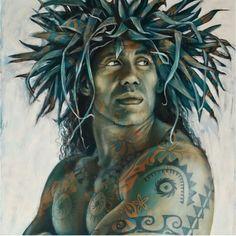 Tania WURSIG #Hawaiiantattoos Hawaiian Dancers, Hawaiian Art, Hawaiian Tattoo, Hawaiian Quotes, Polynesian Art, Polynesian Culture, Tahiti, Atelier D Art, Tropical Art