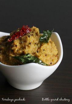sorakaya pachadi or sorakaya chutney is a andhra style bottle gourd chutney with step by step photos, sorakaya pachadi tastes great with rice, chapathi or dosa.