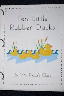 "10 Rubber Ducks (Eric Carle) ordinal class book - ""The first little rubber duck saw a _____."""