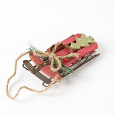 Winter+Sled+with+Tree+Ornament+Price+$7.95