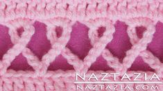 DIY Crochet Pink Awareness Ribbon Scarf Prayer Shawl Wrap Blanket  ༺✿Teresa Restegui http://www.pinterest.com/teretegui/✿༻