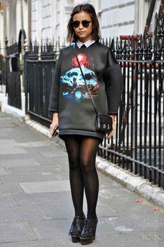Miroslava Duma rocks the ish out of that Balenciaga sweatshirt.Photographed by Melanie Galea