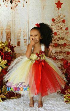 Red and Gold Christmas tutu Dress Christmas tutu by GlitterMeBaby, $75.00