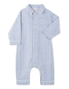 Pelele Rayas Azul para bebé niño (3-24 meses)|Gocco  - Tienda - 19,99€
