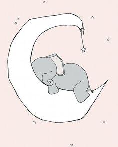 Elefante vivero arteSueño un poco grandedecoración de