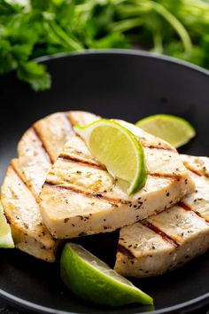 Simple Grilled Swordfish is a great lean fish steak that is easy to make with ingredients you may already have on hand Switch things up by using either lemon or lime juice Grilled Swordfish, Swordfish Recipes, Grilled Fish, Seafood Recipes, Chicken Recipes, Cooking Recipes, Healthy Recipes, Baby Recipes, Skinny Recipes