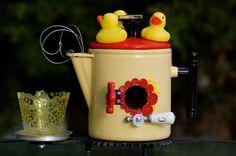 Birdhouse Garden Art ONE duck TWO duck THREE by QueenBeeAndMrMan