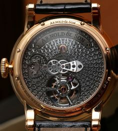 Arnold & Son TE8 Métiers d'Art I Tourbillon Watch Hands On hands on
