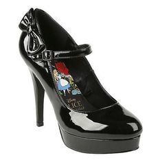 Disney Alice In Wonderland Black Mary Jane Heel Hot Topic ($48) ❤ liked on Polyvore featuring shoes, pumps, black high heel pumps, platform pumps, black platform pumps, round toe pumps and black bow pumps #blackhighheelspumps #aliceinwonderlandshoeshighheels #pumpheels #platformpumpsheels #blackhighheelshot