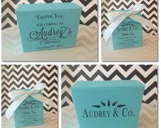 Tiffany Blue Inspired Personalized Favor Boxes