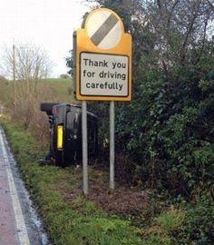 gracias por conducir cuidadosamente