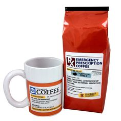 Finally....A coffee gift set that has a prescription and a cure! Funny gift for coffee lovers, pharmacist, doctor, co-worker, friend, family or the person who has everything and you don't what to get them!
