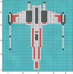 X-wing knitting chart