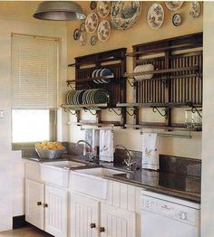 I have an obsession with plate racks.  They look good, and I hate stacked dishes in a cabinet.  HATE...you really don't understand. lol