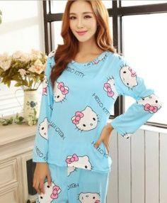 0cf35b971d8 Hot Women s fashion sweet womens pajamas Animal printing Indoor Clothing  Home Suit Sleepwear spring Long sleeve Trousers Pajamas