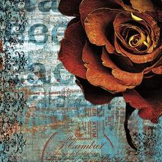 """Multicolor giclee print with a graphic floral motif and typographic accents.  Product: Giclee Construction Material: CanvasColor: MultiFeatures:  Eco-friendlyReady to hang Dimensions: 18"""" H x 18"""" WCleaning and Care: Dust with dry cloth"""