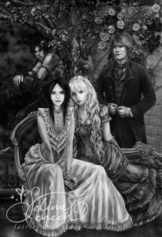 "Art Print - Happily Ever After by Selina Fenech OH MY GOD!! I THINK IT'S THE CREW FROM THE BOOK ""The School for Good and Evil"""
